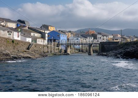 Small fishing village on the coast of the Cantabrian sea near Ribadeo in Galicia
