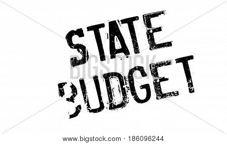 State Budget rubber stamp. Grunge design with dust scratches. Effects can be easily removed for a clean, crisp look. Color is easily changed.