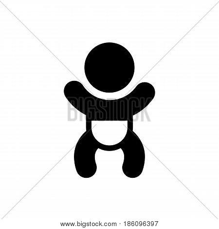 Baby, icon isolated on white background flat style.