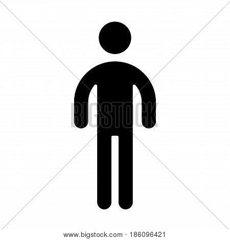 man, icon isolated on white background flat style.