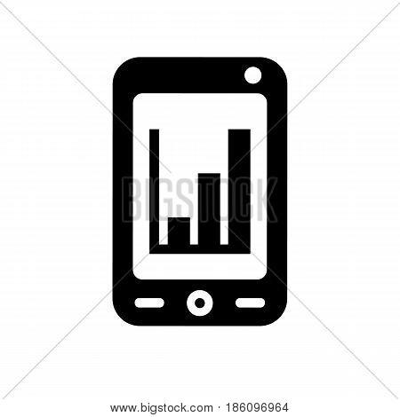 smartphone icon. Symbol black on white background