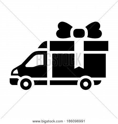 truck icon. Symbol black on white background