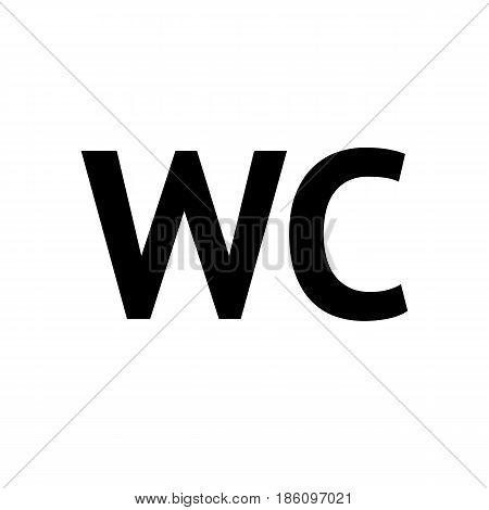 Toilet icon. Symbol black on white background