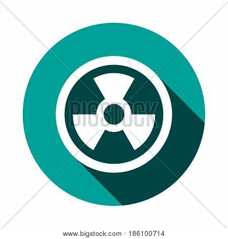 radioactive icon stock vector illustration flat design