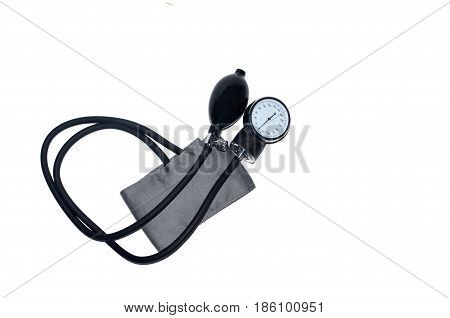 Mechanical Tonometer blood pressure meter, blood pressure monitor  isolated.