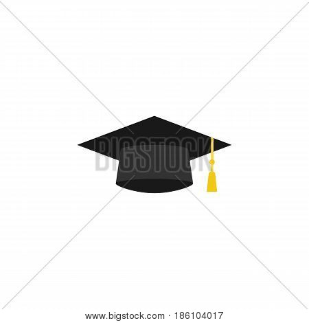 Graduation cap flat icon, education and high school element, academy hat vector graphics, a colorful solid pattern on a white background, eps 10.