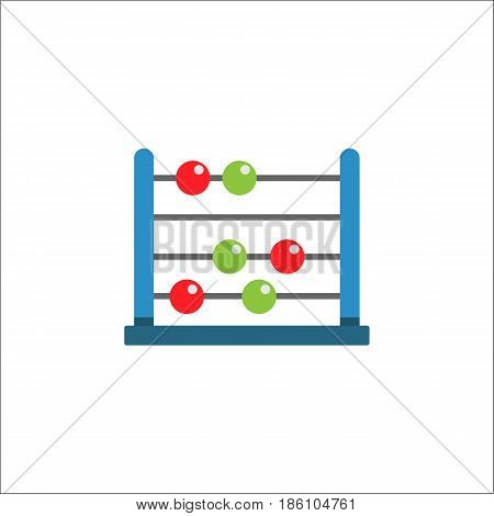 School abacus flat icon, education and school element, math vector graphics, a colorful solid pattern on a white background, eps 10.