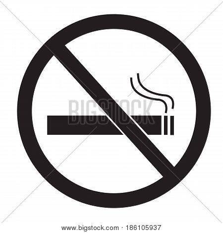 No smoking sign on white background. No smoking icon.