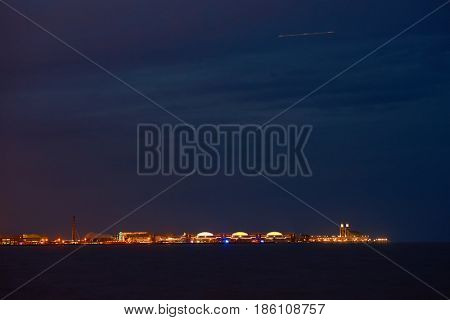 CHICAGO, IL - CIRCA MARCH, 2016: view of Navy Pier at night