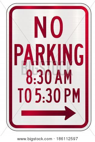 no parking time sign  law plate illustration