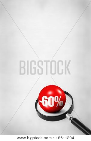 Sale Concept With 3D Ball