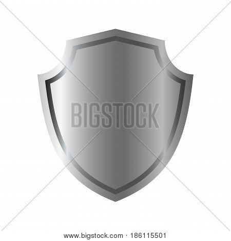 Shield Silver Gray Icon Shape Emblem