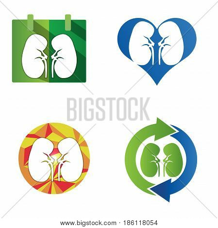 Human kidneys icon. kidney Icon Set. vectore
