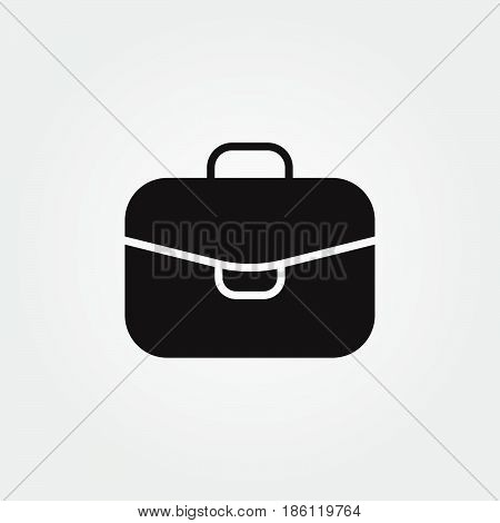 case vector icon isolated on white background .