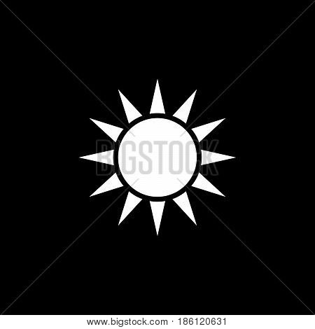 sol vector icon isolated on black background .