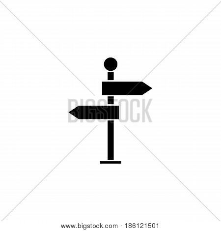 Signpost solid icon, navigation road sign, vector graphics, a filled pattern on a white background, eps 10.