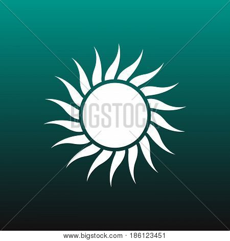 sol vector icon isolated on green background