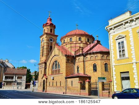 Vrsac Serbia romanian church monument landmark architecture