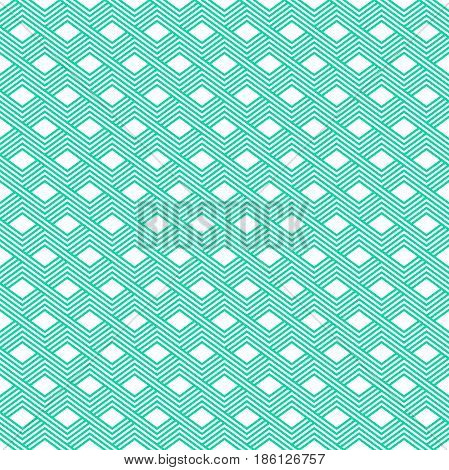 Vector Seamless Pattern. Modern Stylish Linear Texture. Repeating Geometric Tiles With Trapezoidal E