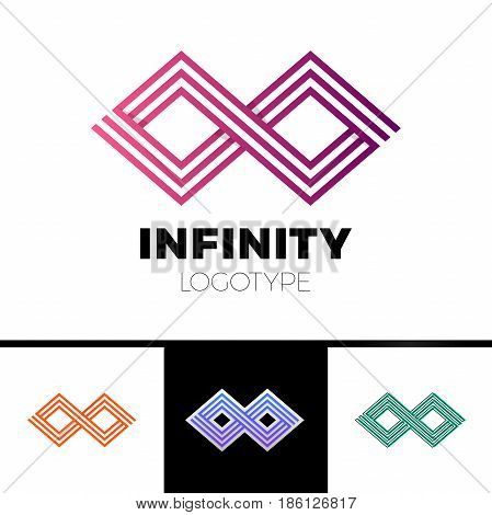 Business Infinity Symbol Abstract Logo Design Vector Template.financial Fashion Jewelry Logotype Con
