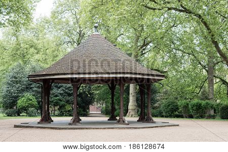The bandstand at Lincoln's Inn Fields London