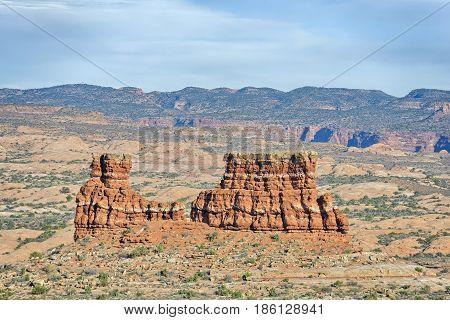 La Sal Mountains Viewpoint Arches National Park Utah USA