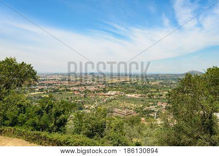 A nice Tivoli town landscape with amazing sky