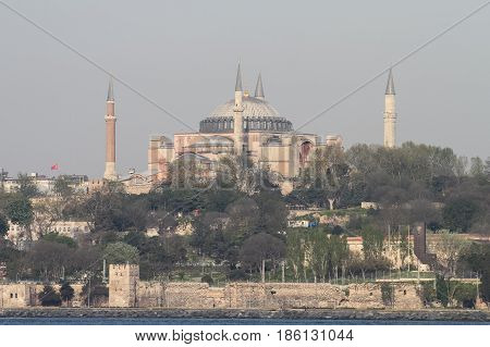 Hagia Sophia Museum In Istanbul, Turkey