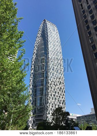 TOKYO JAPAN - APRIL 23 2017: Mode Gakuen Cocoon Tower is an innovative educational center in Tokyo