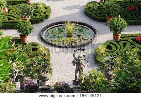 beautiful garden on lake Maggiore