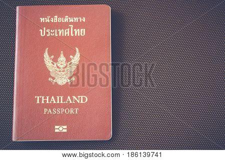 Thai Passport Travel or turism concept, passport for travel.