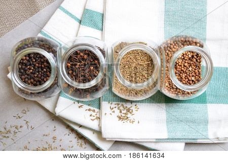 spices and condiments for cooking delicious food