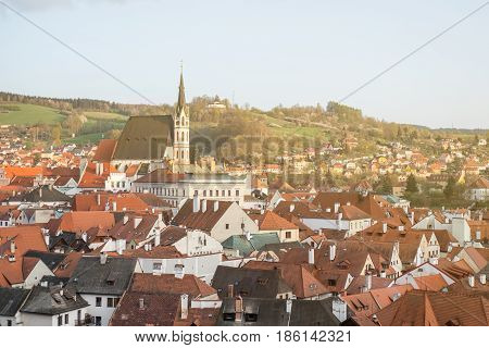 Cesky Krumlov the city in the South Bohemia region of the Czech Republic.