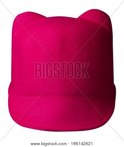 Fedora Hat. Hat Isolated On White Background.red Hat