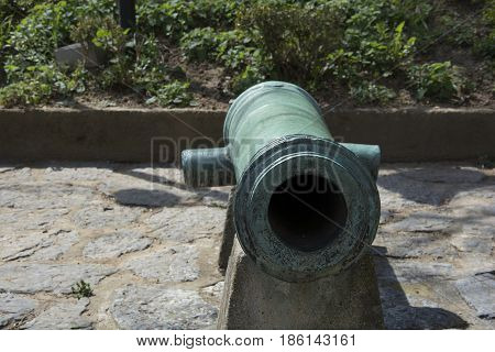 historical ottoman cannon. Used at the conquest of istanbul