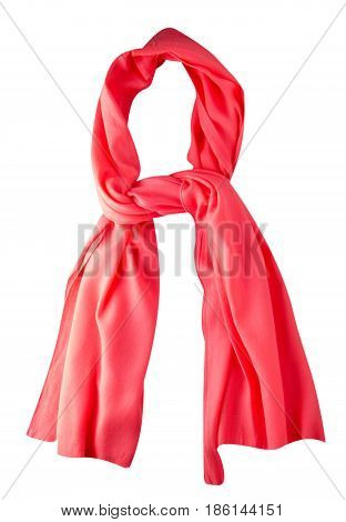 Scarf Summer. Multicolored Scarf. Scarf Top View    .red Scarf