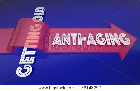 Anti-Aging Fight Getting Old Beat Time 3d Illustration