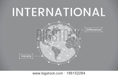 Global Network Connection Society Graphic