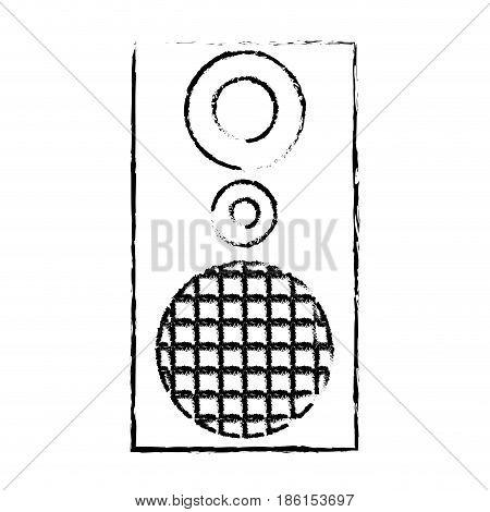 audio speaker the musical equipment volume vector illustration
