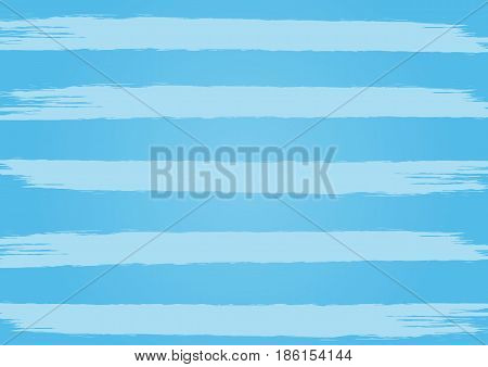 Rectangle blue background with horizontal stripes. Painted by a rough brush. Grunge.