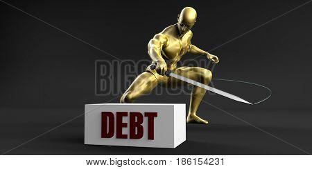 Reduce Debt and Minimize Business Concept 3D Illustration Render