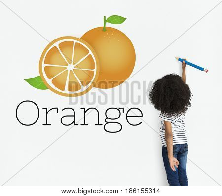Illustration of vitamin nutritious orange healthy food