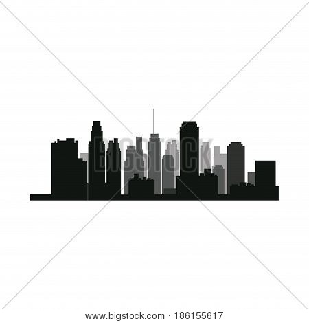 sillouette city bulding skyline urban vector illustration