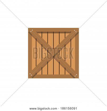 wooden box cargo shipping merchandise vector illustration