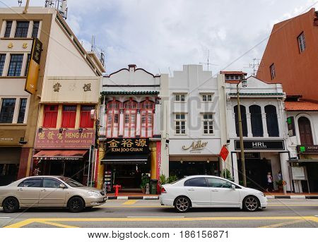 Old Buildings In Chinatown, Singapore