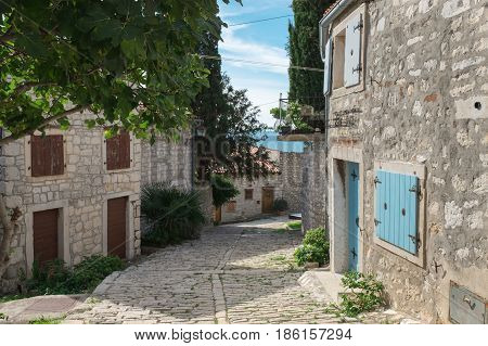 The little old Town of the Rovinj city