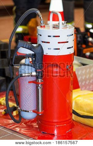 Professional fire extinguisher from the fire brigade