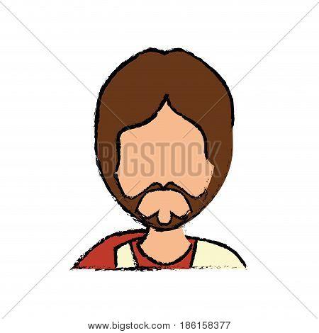 Jesus christ face cartoon Jesus christ face cartoon icon vector illustration graphic design