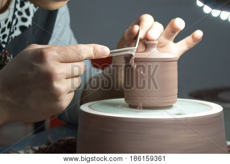 the one of the pottery crafting steps