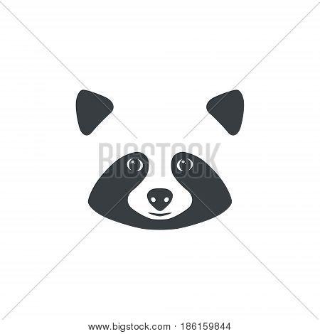 Raccoon face. Raccoon mascot idea for logo emblem symbol icon. Vector illustration.